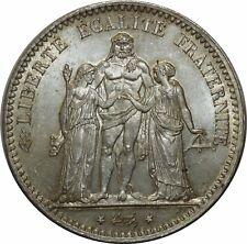 O907 RARE 5 Francs Hercule 1876 A Paris Argent Silver FDC !!! >Make offer