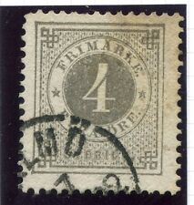 SWEDEN;  1877-79 early classic ' ore ' issue fine used 4ore. fair POSTMARK