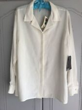 Ladies Cream Size 16 Jacquard Blouse From Isabelle New With Tags