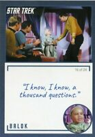 Star Trek TOS Archives & Inscriptions card #16 Balok Variation 16 out of 24
