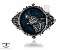 Alchemy Metal Wear Wulven Of The Wolf Howling Pewter & Enamel Belt Buckle