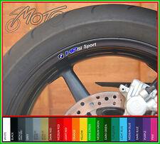 8 x BMW HP2 SPORT Wheel Rim Stickers - 20 Colours - hp 2 enduro megamoto r1200gs