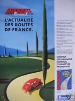 PUBLICITÉ 1988 AVEC EUROPE 1 MAXIROUTE L'ACTUALITÉ DES ROUTES DE FRANCE