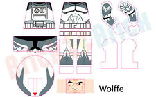 Lego Star Wars Clone Commander CC-3636 Wolffe Custom Water Slide Decal