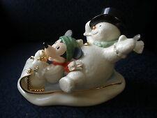 FREE SH Lenox Disney Showcase A Snowy Day With Mickey Figurine Sculpture NIB COA