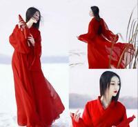 Women's Dress Hanfu Ancient Costume Han Chinese Dress Dance Cosplay Jd_uk