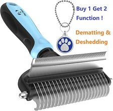 2side Dog Brush for Shedding Cat Dematting SHORT MEDIUM Curled Hair Small Pet