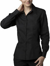 Bargear KK738 Ladies Bar Work Long Sleeved Shirt Formal Blouse Black