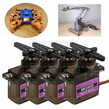 4X MG90S RC Metal Gear High Speed Micro Motor für RC Robot Helicopter Airplane