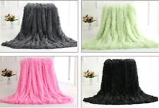 Fur Shaggy Blanket Cozy Sheet Soft Bedding Reversible Warm Throw Blanket Mat hot