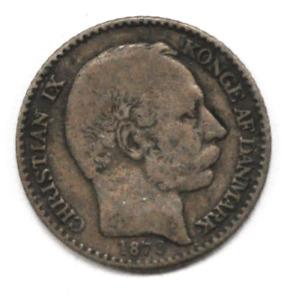 1878 Danish West Indies 5 Five Cents KM# 69 Low Mintage