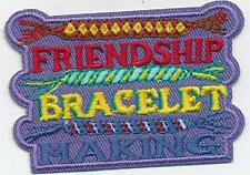 Girl Boy FRIENDSHIP BRACELET MAKING Fun Patches Crests Badges SCOUTS GUIDES
