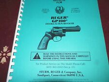 RUGER  GP 100,  REVOLVER,  BLUE & STAINLESS  STEEL,  38 Pages