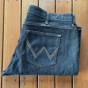 Wrangler Plus Size 19 / 20 * 34 Q Baby Jeans No Gap Stretch Dark Wash Denim