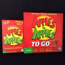 Mattel Apples to Apples To Go + Party Box The Game of Crazy Combinations