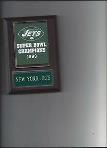 NEW YORK JETS SUPER BOWL BANNER PLAQUE NY FOOTBALL NFL