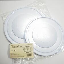 "Pampered Chef White 2 Piece Lid Set (10"" / 9"") For Colander/Bowl #2798"