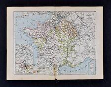 1885 Cortambert Map - France Railroads Paris De Lille Nimes Nancy Lyon Reims RR