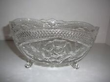 Vintage Crystal Footed Fruit bowl centre piece Flowers decoration stunning