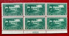 1925 US Stamp SC#617 1c Green Lexington-Concord issue Plate Block of 6 CV:$68