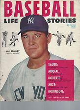 Dell 1953 Baseball Life Stories ALLIE REYNOLDS HANK SAUER STAN MUSIAL