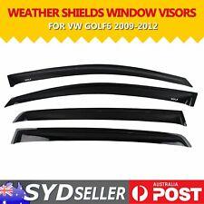 Weathershields For Volkswagen VW Golf MK6 09-13 Window Sun Visor Wind Rain Shade