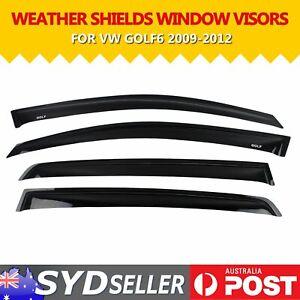 For Volkswagen VW Golf MK6 09-13 Car Weather Shields Sun Visor Wind Rain Shade