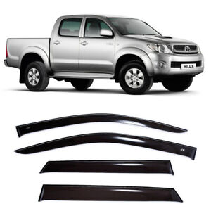 For Toyota HiLux Vll 2005-2015 Side Window Visors Sun Rain Guard Vent Deflectors