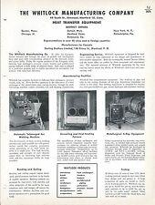 MRO Brochure - Whitlock - Heat Transfer Exchanger Equipment - c1952 (MR60)
