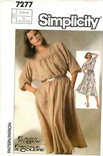 Simplicity Sewing Pattern Women's PULLOVER DRESS 7277 Size 6-8-10 UNCUT