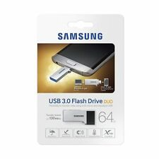Samsung 64GB USB3.0 130MB/s Duo OTG Flash Memory Drive Stick MUF-64CB
