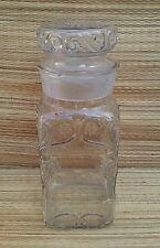 Ancien pot à bonbons en verre soufflé, bulles, pour déco vintage fench antique
