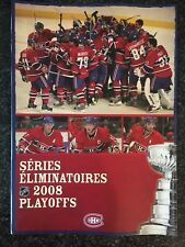 2008 Montreal Canadiens Playoff Ticket Booklet W/ Tickets NHL