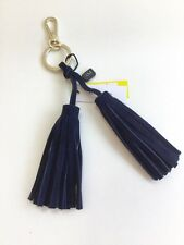 Karen Millen Navy Suede Tassell Key Ring  New with Tags