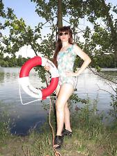 Badeanzug Schwimmanzug Handarbeit 60er TRUE VINTAGE 60s swimming suit body