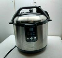 Breville Electric 6-Qt Fast-Slow Saute Sear Fry Steam Pressure Cooker Warm Pot