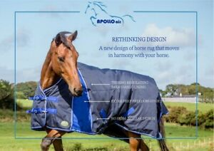 Apollo air Freedom 250g 1200d med wt turnout rug. Breathable lining, long gusset