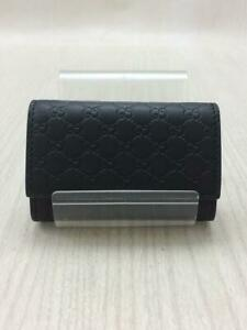 Gucci _  Shima Leather Leather 150402 Bmj1N 1000 Leather Black Key case