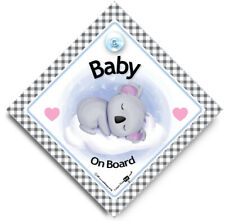 Baby Koala On Board Sign, Baby On Board Sign, Suction Cup Car Window Sign