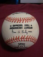 Vintage Rawlings Major League Baseball American League Cal Ripken Orioles 2131