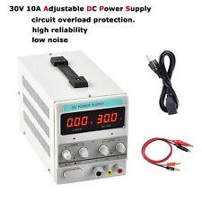 Precision 30V 10A Adjustable DC Power Supply Variable Dual Digital Display 110V