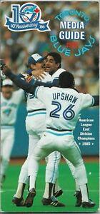 1986 TORONTO BLUE JAYS MLB MEDIA GUIDE VINTAGE