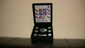 2003 Original NHL coin and stamp set, plus official signed puck