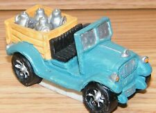 Unbranded Blue Truck With Milk in Back Christmas Figurine Village Decoration