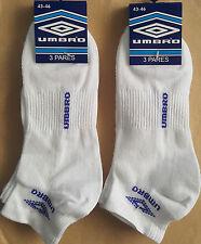 6 Pares calcetines deportivos tobilleros Umbro. 100% Originales. Talla 43 / 46