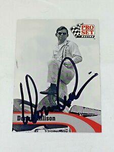 Donnie Allison 1992 PRO SET LEGENDS NASCAR VINTAGE WINSTON CUP L7 signed card