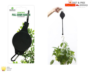 HOOK EASY RETRACTABLE STRONG PULLEY Pull Down Garden Hanging Basket Hanger