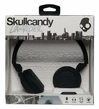 SKULLCANDY Lowrider DJ Style Over Ear Headphones + Mic + Volume Control - BLACK
