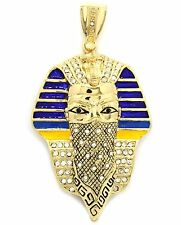 Mens Gold Plated Iced Out Large Masked Thug Pharaoh Hip Hop Pendant A65