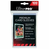 ULTRA PRO Premium Card Sleeves Platinum Clear 66 x 94mm 100ct Sports Card
